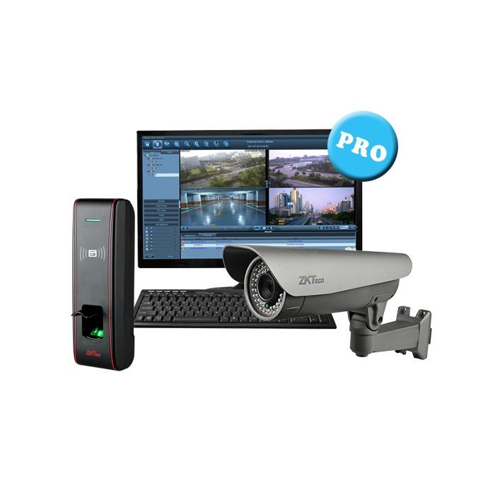 1 door solution: Fingerprint device and bullet camera